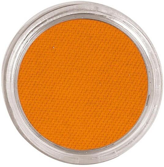 Trucco arancione ad acqua viso corpo body painting make up cerone lavabili 15 gr