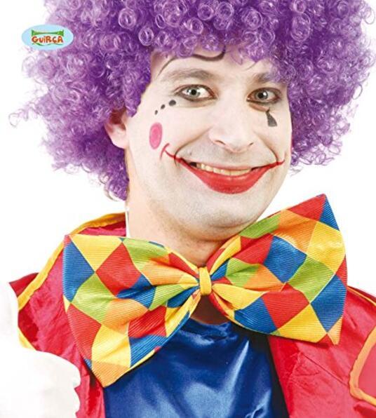 Maxi Papillon Clown A Scacchi Multicolor 30 Cm