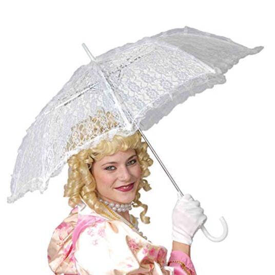 Ombrello In Pizzo Bianco - 2