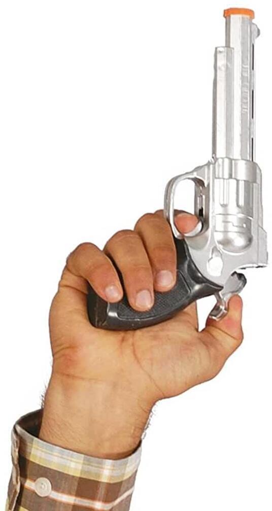 Pistola giocattolo 23 cm, poliziotto, bandito,