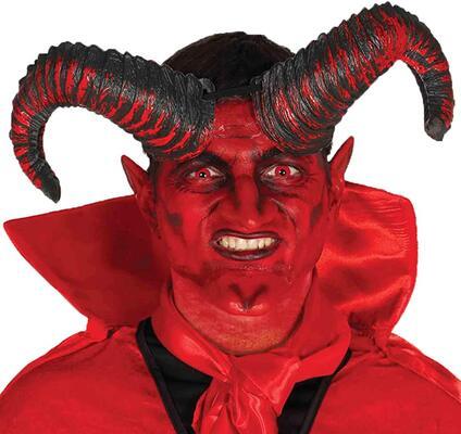 Satana demonio lucifero capra ariete corna su elastico costume accessorio 20cm