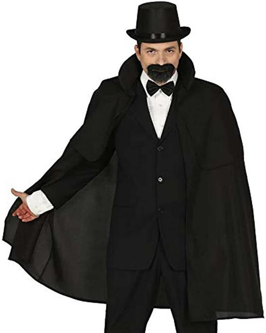 Mantello con pellegrina nero vampiro mantello nero medioevo cappotto cape edelmann halloween kutscher veste