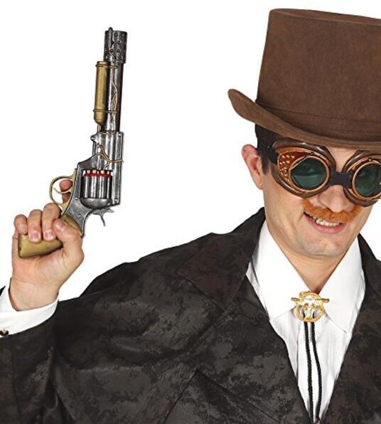 Revolver Steampunk 30 Cm In Plastica