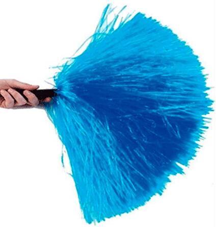Coppia pon pon in plastica per cheerleaders colore blu