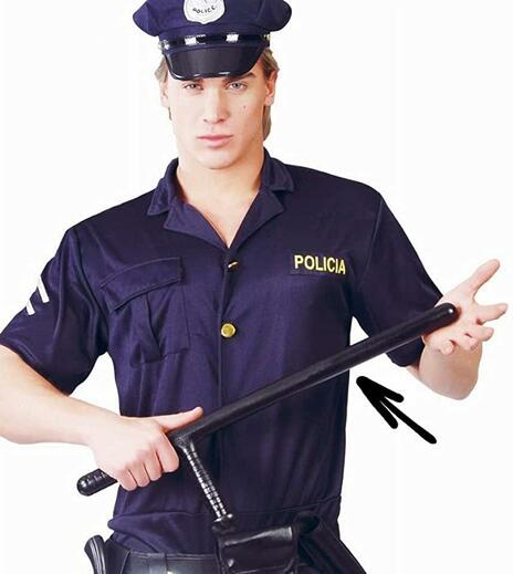Manganello Polizia Tonfa 60 Cm - 2