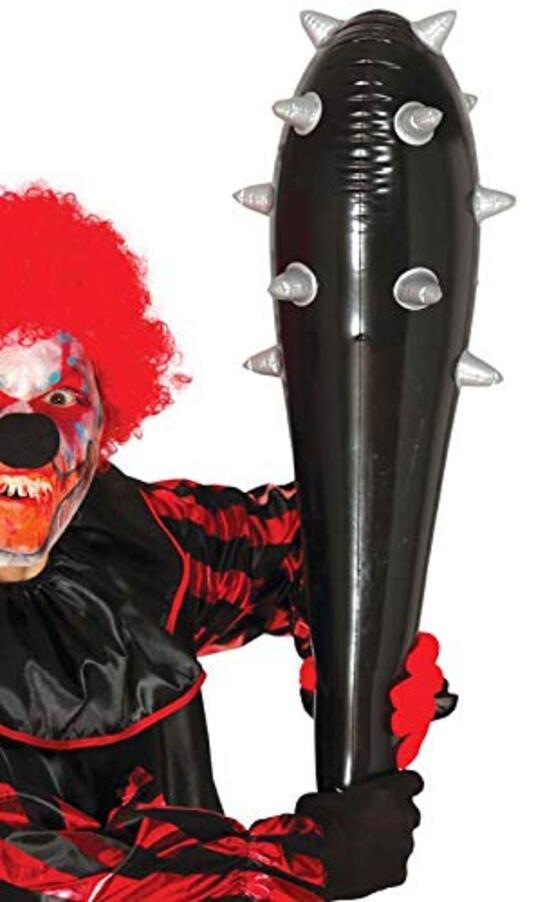 Mazza Chiodata Gonfiabile 80 Cm Clava Horror Halloween - 2