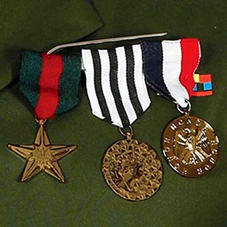 Spilla Con 3 Medaglie Al Valore Militare