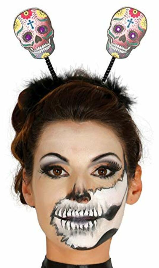 Cerchietto Halloween Con Teschi Messicani - 2