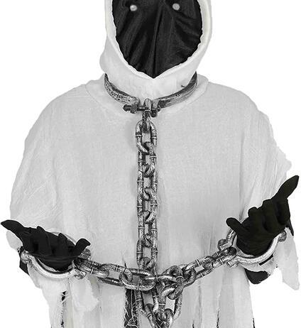Manette collo e mani, catene fantasma prigioniero halloween