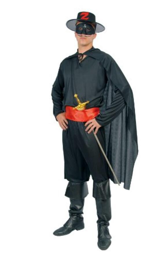 Vestito Giustiziere Zorro Unica - 4