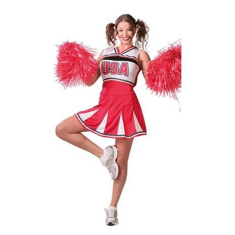 Costume Cheerleader Ragazza Pon Pon. Taglia Unica - 9