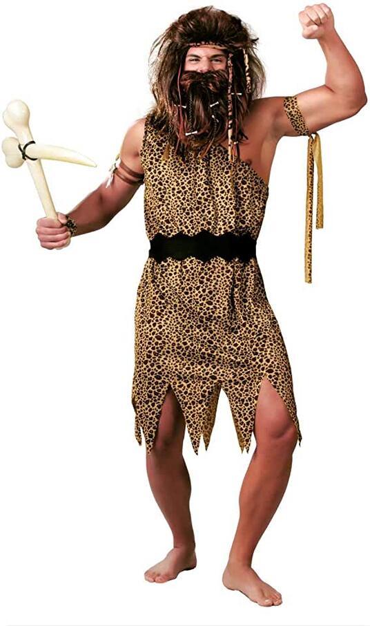Costume primitivo cavernicolo troglodita. Taglia L