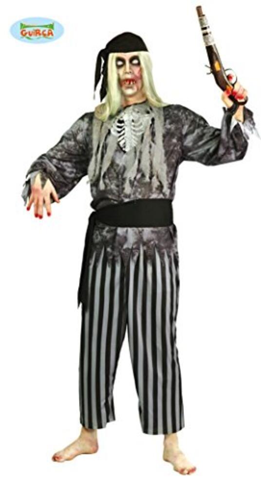 Vestito Pirata Fantasma Uomo Zombie Unica - 2