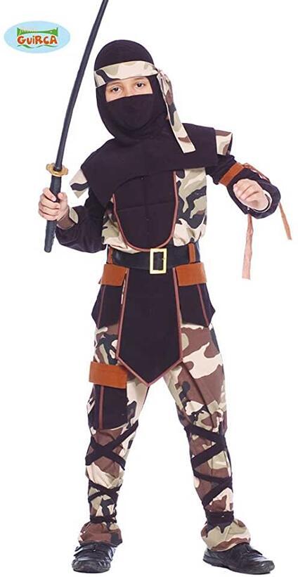 Costume ninja d assalto in mimetica. Da 5 anni