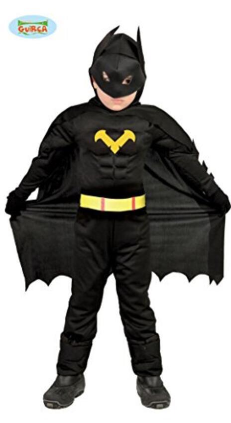 Vestito Eroe Nero Batman 7-9 Anni - 2