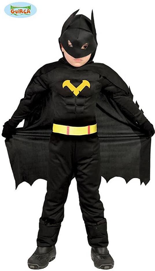 Costume eroe nero batman. Da 10 anni