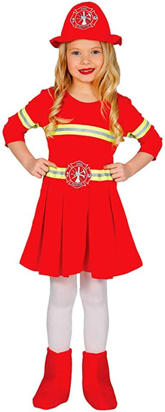 Costume vigilessa del fuoco pompiera. Da 3 anni
