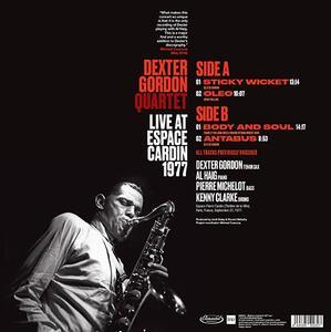 Espace Cardin 1977 - Vinile LP di Dexter Gordon - 2