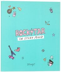 Cartoleria Quaderno copertina ad anelli Mr Wonderful. Rockstar in study mood Mr Wonderful