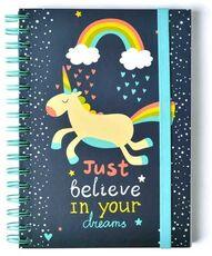 Cartoleria Quaderno Notebook A5 Premium con spirale Wire-O. Be Happy Erik