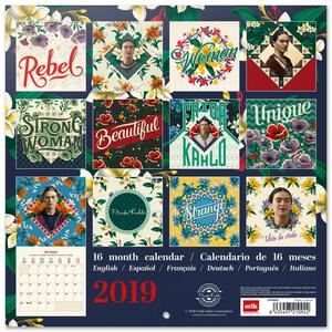 Calendario 2019 Frida Kahlo - 30x30 - 2
