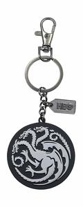 Game of Thrones SILVER LOGO METAL KEYCHAIN - 2