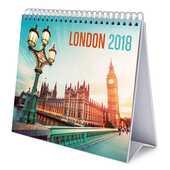 Cartoleria Calendario da tavolo Deluxe 2018 Londra. In italiano Erik