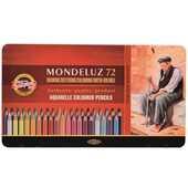Cartoleria Pastelli Mondeluz Classic Koh-I-Noor. Astuccio in metallo con 72 matite colorate Koh-I-Noor