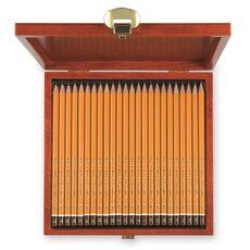 Cartoleria Set completo Koh-I-Noor. 24 matite H1500 8B-10H in scatola di legno Koh-I-Noor