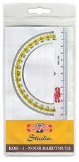 Cartoleria Goniometro in plastica trasparente Koh-I-Noor. 180 gradi,  diametro 125 mm Koh-I-Noor