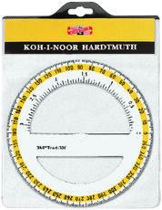 Cartoleria Goniometro in plastica trasparente Koh-I-Noor. 360 gradi,  diametro 125 mm Koh-I-Noor