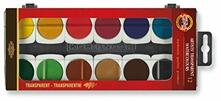 Acquerelli in pastiglia Koh-I-Noor 12 colori Trasparenti