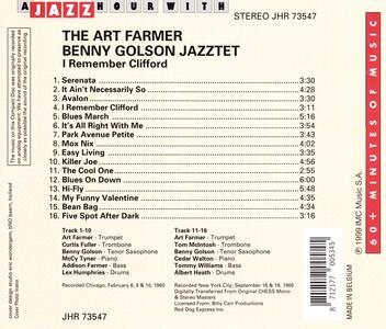 Jazz Hour With - CD Audio di Art Farmer,Benny Golson - 2