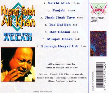 Missives from Allah - CD Audio di Nusrat Fateh Ali Khan - 2