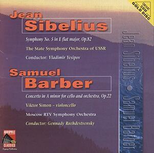 Sinfonia n.5 - CD Audio di Jean Sibelius