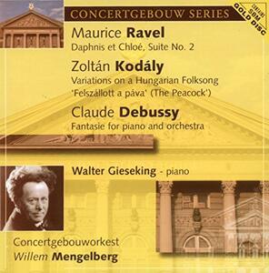 Fantasie per Pianoforte e Orchestra - CD Audio di Claude Debussy