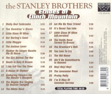 Echoes of Clinch Mountain - CD Audio di Stanley Brothers - 2