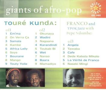 Giants of Afro Pop - CD Audio di Touré Kunda - 2