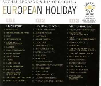 European Holiday. Paris, Rome & Vienna - CD Audio di Michel Legrand - 2