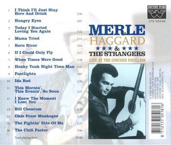 Live At Concord Pavillion - CD Audio di Merle Haggard - 2