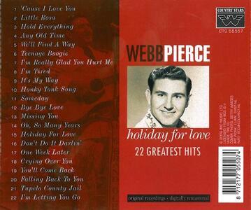 Holiday for Love - CD Audio di Webb Pierce - 2