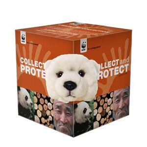 Peluche collezione proteggi orso polare WWF - 2