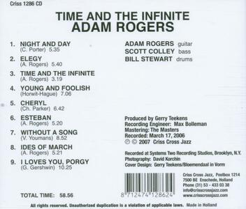 Time and the Infinite - CD Audio di Adam Rogers - 2