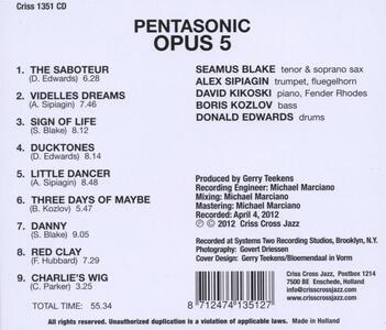 Pentasonic - CD Audio di Opus 5 - 2