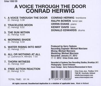 A Voice Through the Door - CD Audio di Conrad Herwig - 2
