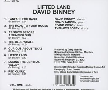Lifted Land - CD Audio di David Binney - 2