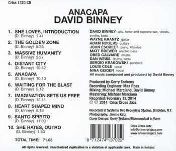 Anacapa - CD Audio di David Binney - 2
