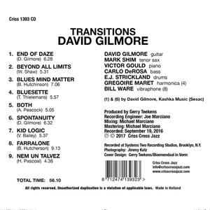 Transitions - CD Audio di David Gilmore - 2