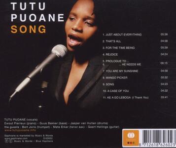 Song - CD Audio di Tutu Puoane - 2
