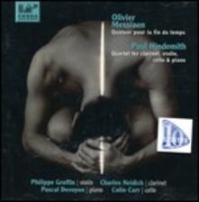 Quatuor pour la fin du temps / Quartetto con clarinetto - CD Audio di Paul Hindemith,Olivier Messiaen